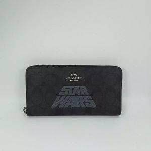 NWT Coach X Star Wars Accordion Sig Zip Wallet